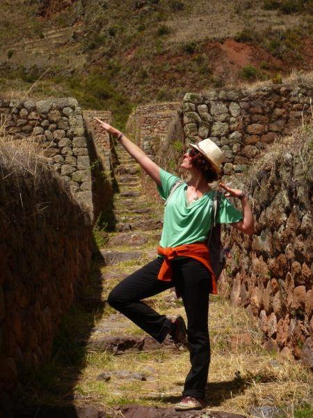 The Professional Hobo in 2015 Peru Pisac Ruins