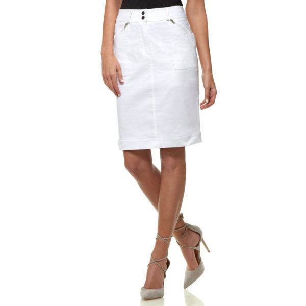 Awesome cruise attire: you can dress this one up or down! Dora Stretch Pencil Skirt by Anatomie Travel Clothing