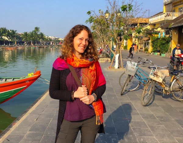 On the waterfront river in Hoi An, Vietnam, 2018