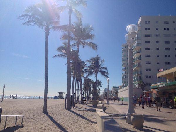 "The ""Broadwalk"" beachside boardwalk in Hollywood Florida"