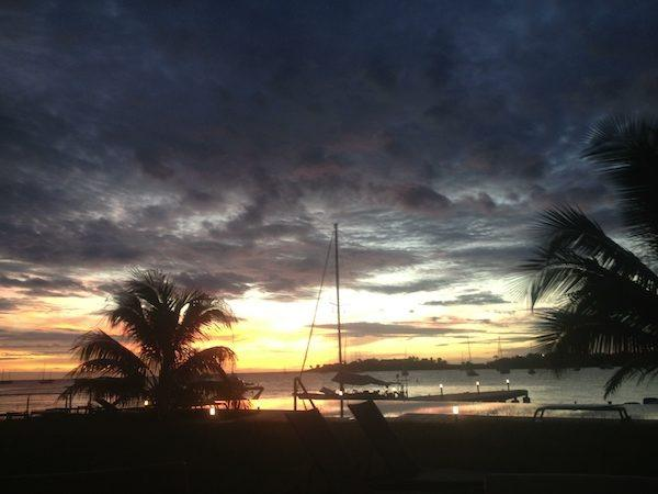 Sunset at a marina in the Caribbean; what's in your travel budget? Travel budget planners always have a better time!