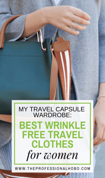 In this post I dissect what makes for the best wrinkle free travel clothes for women, as inspired by a capsule wardrobe challenge by Anatomie Travel Clothes #Anatomie #CapsuleWardrobe #TravelPacking #TravelGear #PackingTips #FullTimeTravel #TravelPlanning #TravelTips