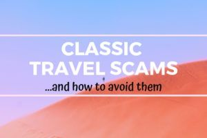 Classic Travel Scams and How to Avoid Them, red sand desert and blue sky