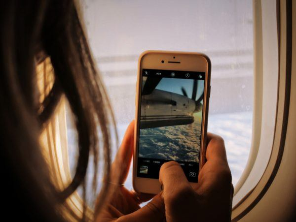 Smartphone picture of plane propellor - Best Cell Phone Plans for Digital Nomads