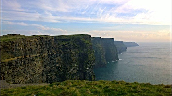 Cliffs of Moher in Ireland, where I got the Travelers Ten Commandments
