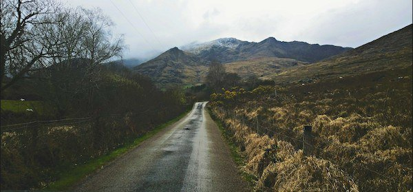 Ireland Ring of Kerry road with mountains, where I learned the 10 Commandments for Travel