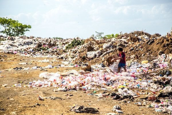 garbage heap - sustainable tourism starts with daily practice