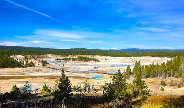 Norris Artist Paintpots in Yellowstone National Park