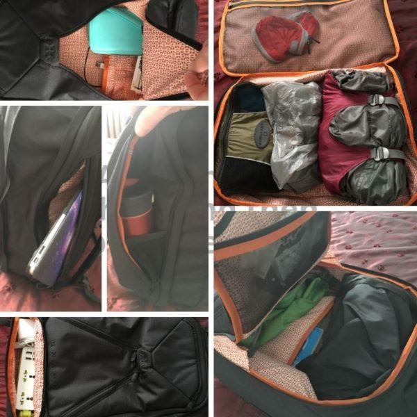 Knack Pack Collage Packing List for One Bag Travel