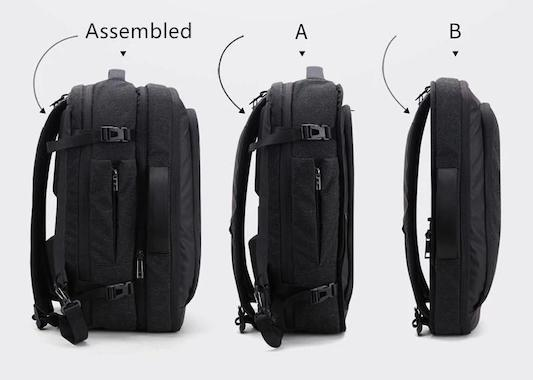 Combo Small Travel Backpack Modules