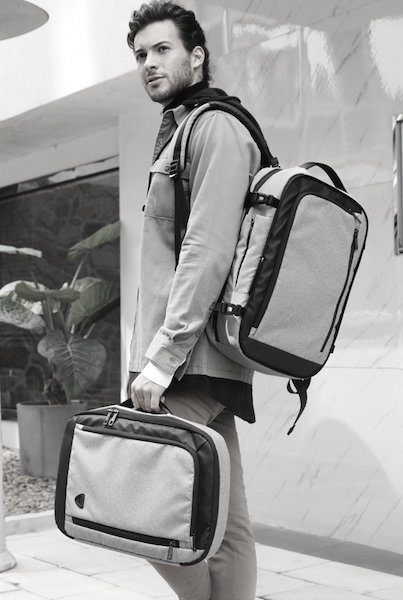 Combo backpack separate pieces