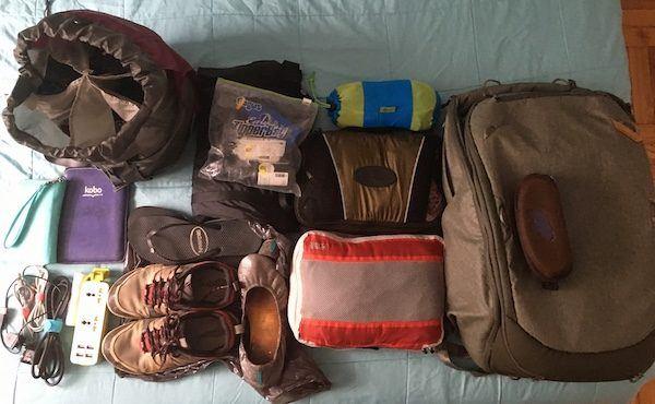 Peak Design Ultralight Travel Packing List One Week Travel