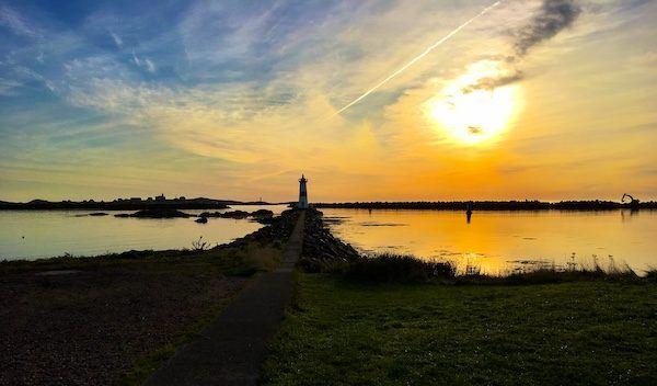 sunrise over lighthouse