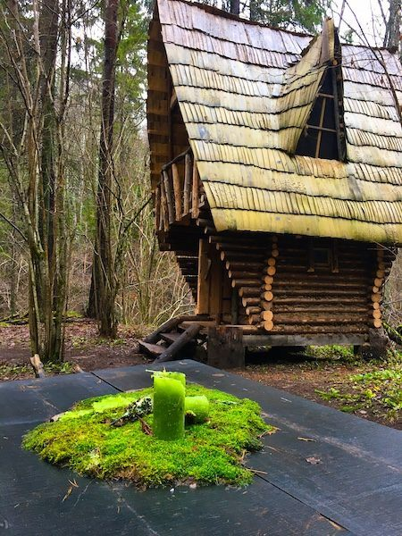 Cecili Nature Trail in Gauja National Park - charming wooden structure