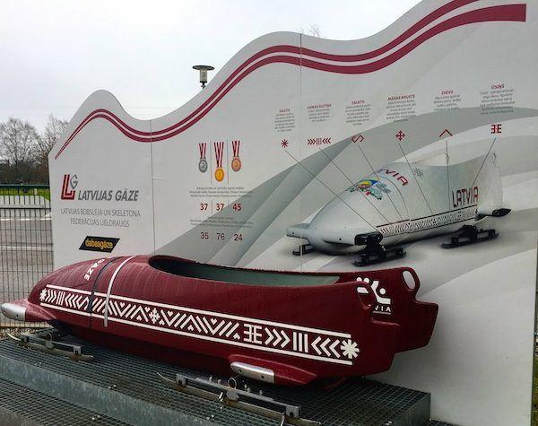 Olympic bobsled in Sigulda Latvia