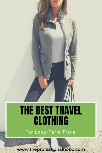 Read on to learn about my favourite travel clothes brand for long-term travel - or any travel for that matter. #travelclothes #Anatomie #travelfashion #travelclothing #TheProfessionalHobo #travelstyle
