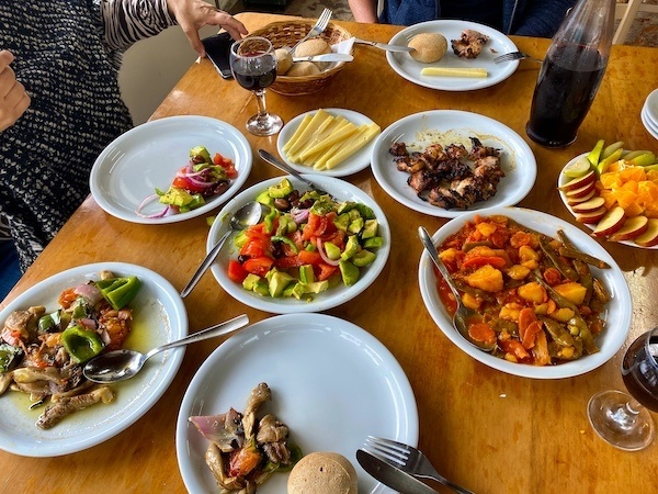 Eating in Chania, Crete, with tapas style plates