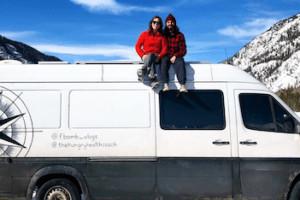 Alex and Frankie, Van lifers with their van Lolo