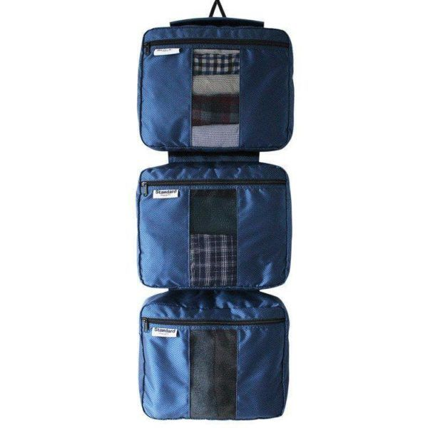The 3 piece packing cube set from Standard Luggage, which doubles as a hanging wardrobe