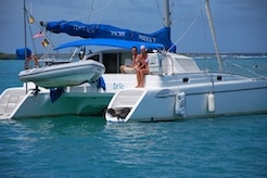 Liesbet Collaert of Roaming About sailing SV Irie