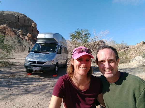 Liesbet and her Husband boondocking, Roaming About