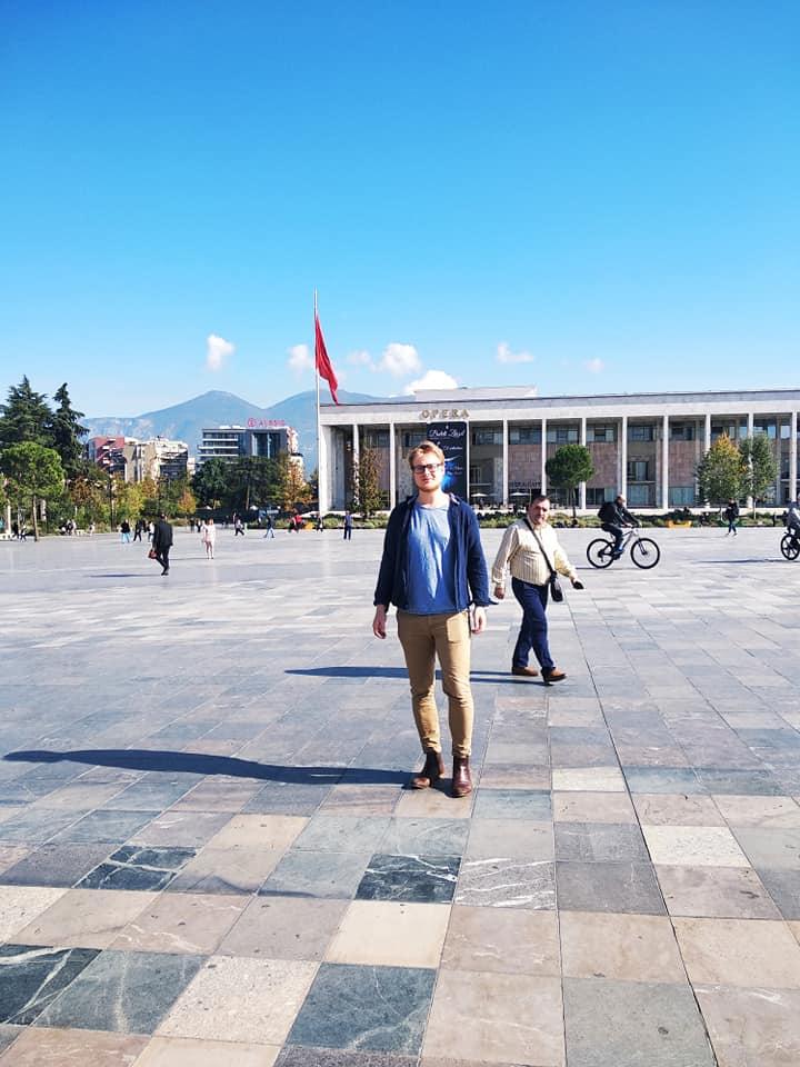 Nathan James Thomas in Tirana Albania