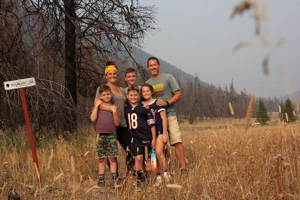 Bryanna and Family of CrazyFamilyAdventure at Yellowstone