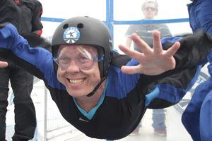 Marc Smith of Marc My Travels indoor skydiving