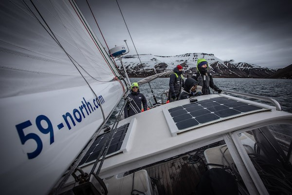 SV Delos crew sailing with 59 North Crew on SV Isbjorn