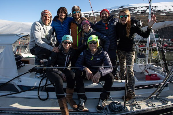 The 8-person Crew on the 80 Degrees North Arctic sailing adventure