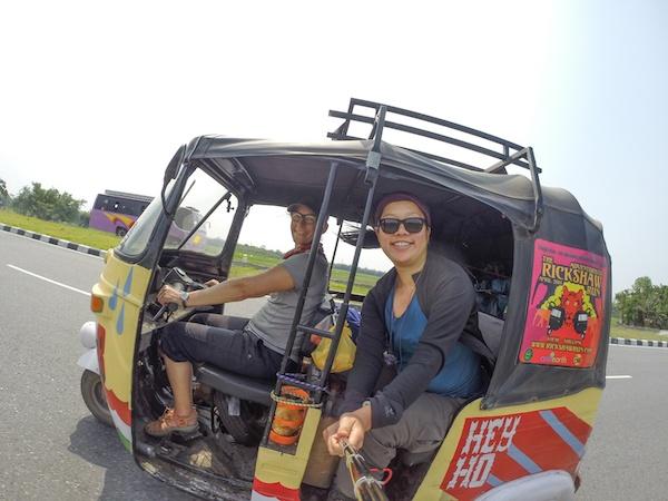 Sherry of Ottsworld doing the Rickshaw Run