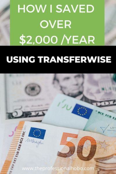 I save over $2k/year in banking fees. I show you how, in this, the best of Transferwise reviews. #Transferwise #moneytransfer #bankingfees #remotework #digitalnomad #currencyfees #savemoney #TheProfessionalHobo