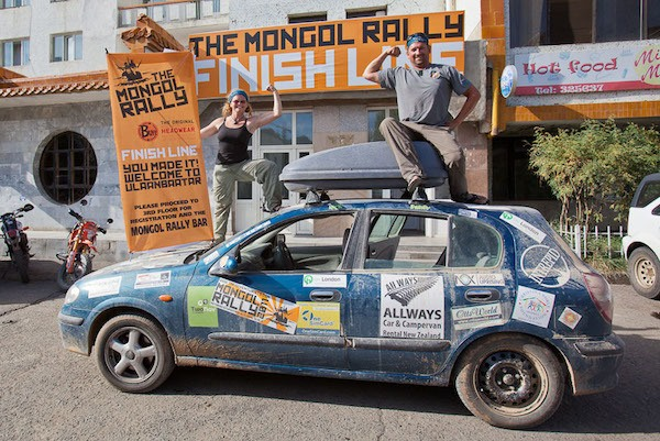 the planet D at the end of the mongol rally in mongolia