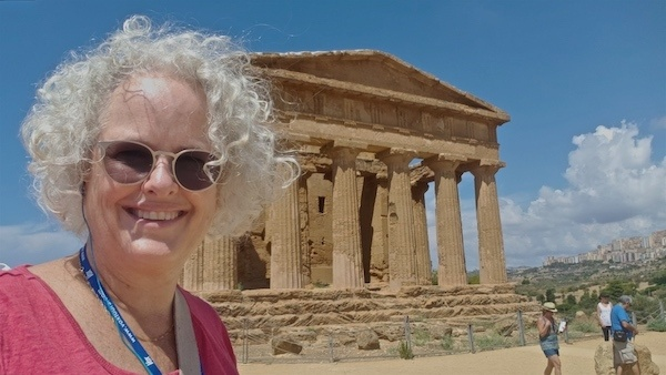 Janice Waugh at Valley of the Temples in Sicily