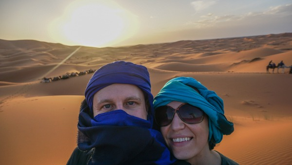 Jeremy Jones and his wife in the desert Living the Dream RTW