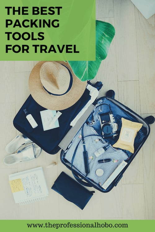 These are the best packing tools for travel to save space and keep your stuff organized! #travelpacking #traveltips #TheProfessionalHobo