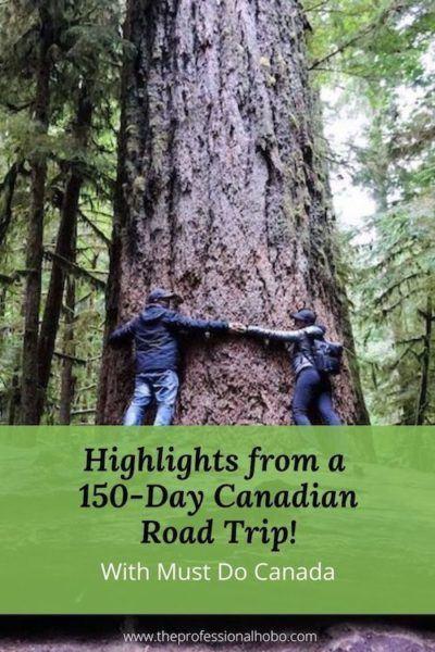 Matt & Karla Bailey did a 150-day Canadian Road Trip from coast to coast to coast! Here's what happened. #MustDoCanada #Canada #RoadTrip #TheProfessionalHobo