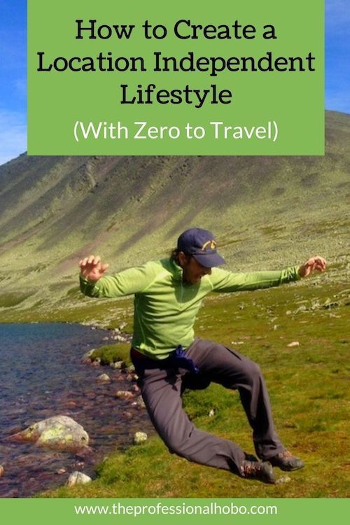 Creating a location independent lifestyle starts with the lifestyle first, and then moves to finding a location independent career that can support it. This, and more from Jason Moore of Location Indie and Zero to Travel. #locationindie #locationindependent #lifestyledesign #travellifestyle #TheProfessionalHobo