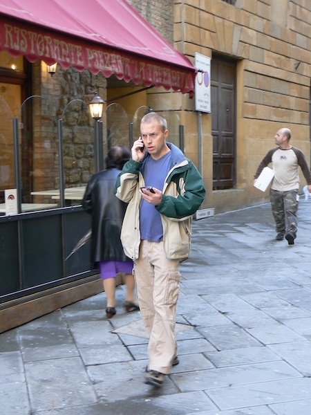 Leif Pettersen on a travel writing assignment in Tuscany for Lonely Planet