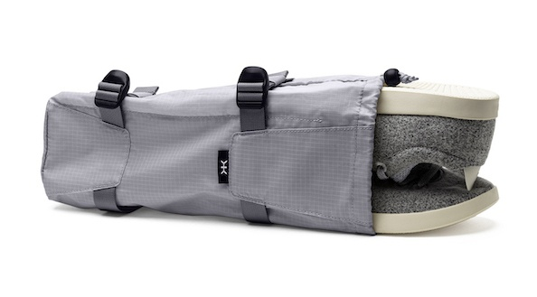 Knack compressible shoe bags are a multifunctional and space-saving packing tool