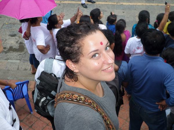 Isabelle of Aventures en Conscience as a digital nomad in India