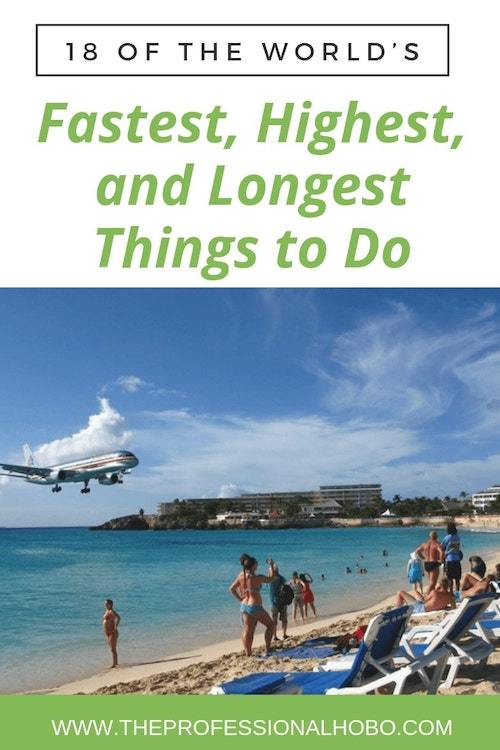 Here are 18 of the world's fastest, highest, longest, deepest, happiest, smelliest, most dangerous - and more - things I've done: #FullTimeTravel #TravelPlanning #TravelTips #TravelWebsites #TravelTools #AdventureTravel #ExtremeTravel #RandomExperiences #WorldsMost #Skydiving #Caving #ExcitingDestinations