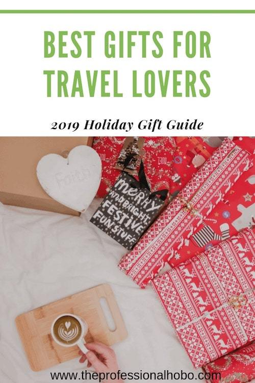 This 2019 Holiday Gift Guide has the latest travel-tested clothes, mobile hotspots, activities, headphones, flight gadgets, and more. Behold the best gifts for travel lovers. #travelgifts #travelgadgets #travelgear #holidaygiftguide #theprofessionalhobo #westernrise #merinowool #performancelab #travelsupplements #sleepphones #theairhook #eustachi #letsroam #keepgo #mobilewifi #wifihotspot #remotemuch #wiivv #custominsoles