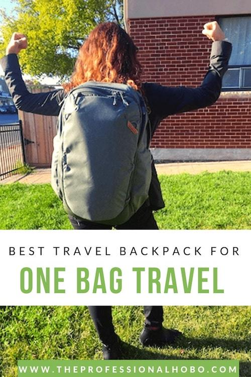 This is my quest to find the best carry on backpack for one bag travel – not just minimalist travel backpacks, but REAL one bag travel, with unrivalled versatility. #onebagtravel #travel #carryon #backpacks #travelbackpacks #carryonbackpacks #knackbags #peakdesign #nayosmart #expandablebackpacks #travelgear #theprofessionalhobo #fulltimetravel #adventuretravel