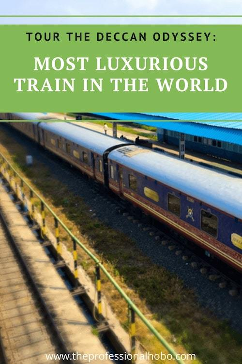 Come along for this tour of the most luxurious train in the world, the Deccan Odyssey in India! #traintravel #train #luxurytravel #India #DeccanOdyssey #TheProfessionalHobo