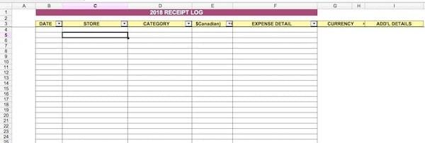 Filing Taxes for Digital Nomads - Expense Tracking Template