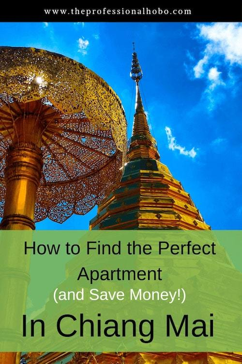 Here's your guide to finding the perfect apartment in Chiang Mai Thailand - and you can use this technique in many other places around the world! #longtermtravel #theprofessionalhobo #apartmentrentals #vacationrentals #livingabroad #expat #fulltimetravel #travellifestyle #digitalnomad #chiangmai #thailand #southeastasia