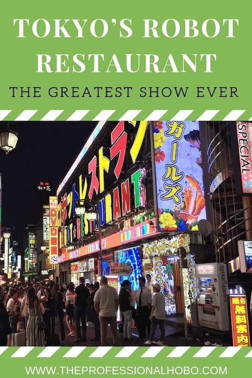 Why on earth would I go to the Robot Restaurant in Tokyo? Because Anthony Bourdain told me to. And quite frankly, he wasn't wrong. I'm still laughing! #FullTimeTravel #TravelPlanning #TravelTips #TravelWebsites #TravelTools #Japan #Tokyo #RobotRestaurant #RestaurantShow #PerfectMeal #AnthonyBourdain