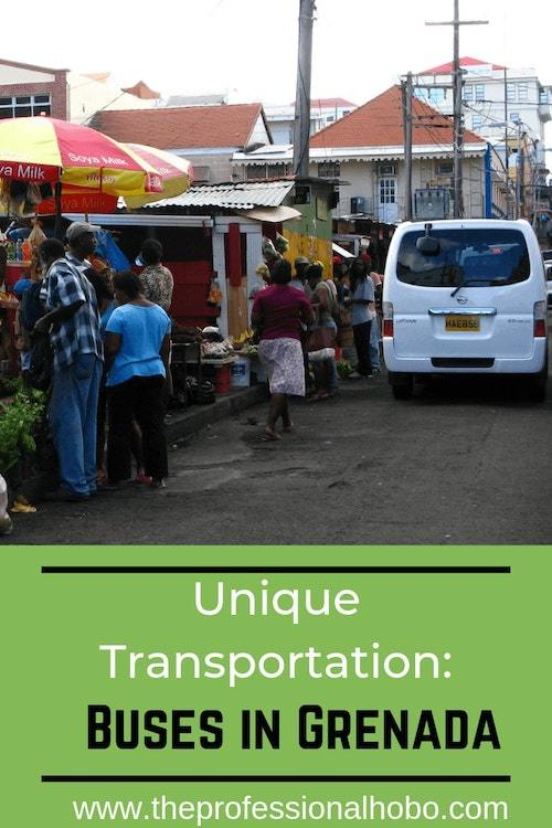 Buses in Grenada: Why Grenada's public bus system is one of the most unique – and enjoyable – forms of transportation I've encountered around the world. #TravelTips #FullTimeTravel #Grenada #Caribbean #Transportation #BusesInGrenada #HowItWorks #DrivingInGrenada #WhereBusesRun #Caribbean #GrenadaTransportation #Transportation