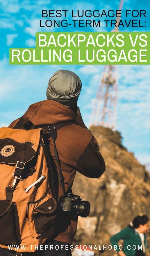 It's hot topic for travelers. Here's a review of different types of luggage, with criteria for when to choose rolling luggage, a backpack or something else! #FullTimeTravel #TravelPlanning #BudgetTravel #TravelTips #TravelGear #Luggage #BestLuggage #CarryOnTravel